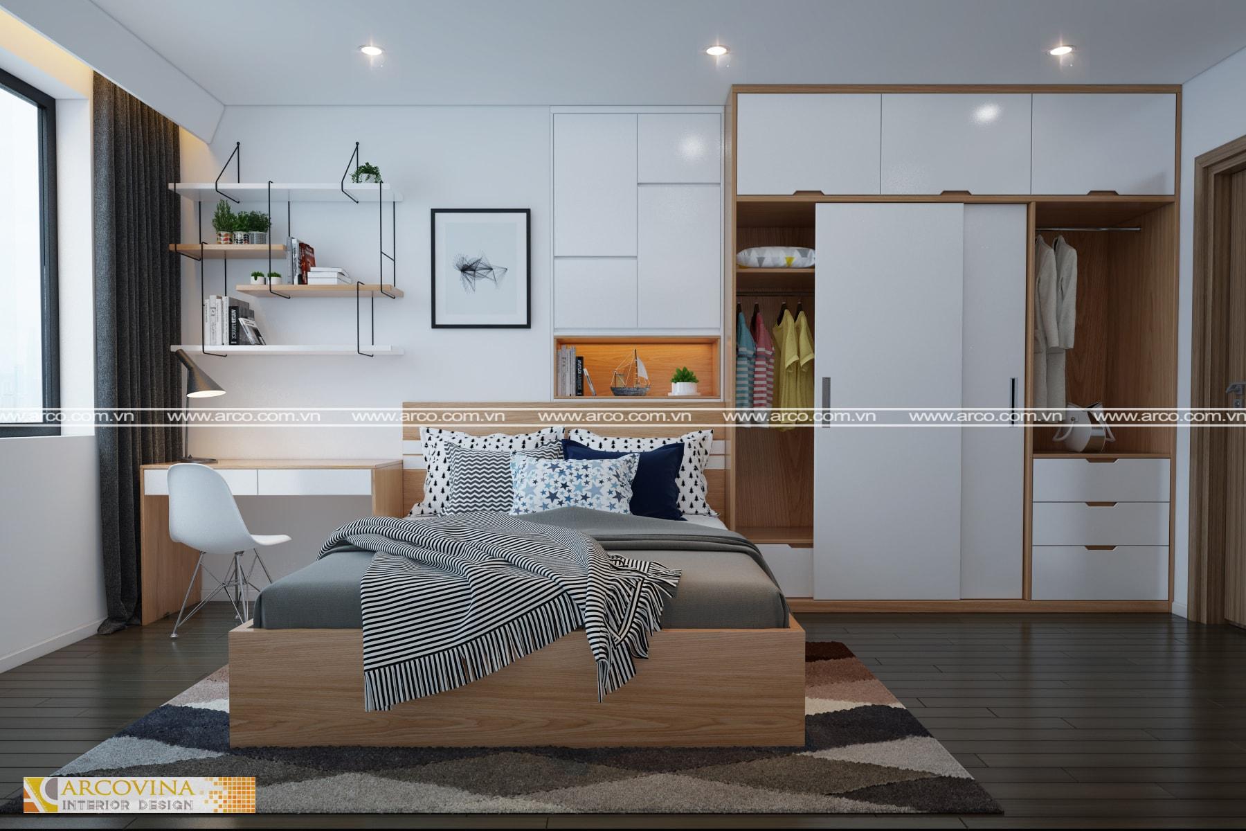 Thiết kế nội thất căn hộ chung cư Mipec Riverside Long Biên