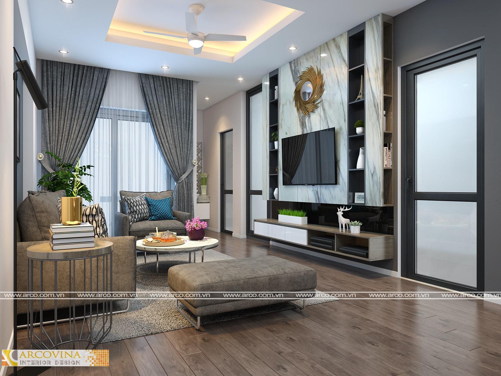 Thiết kế nội thất nhà phố ở Cầu Diễn – Q.Nam Từ Liêm