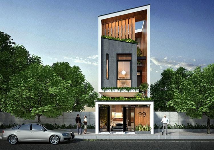 Thiết kế kiến trúc nhà phố – anh Sơn Ngõ 168 Kim Giang