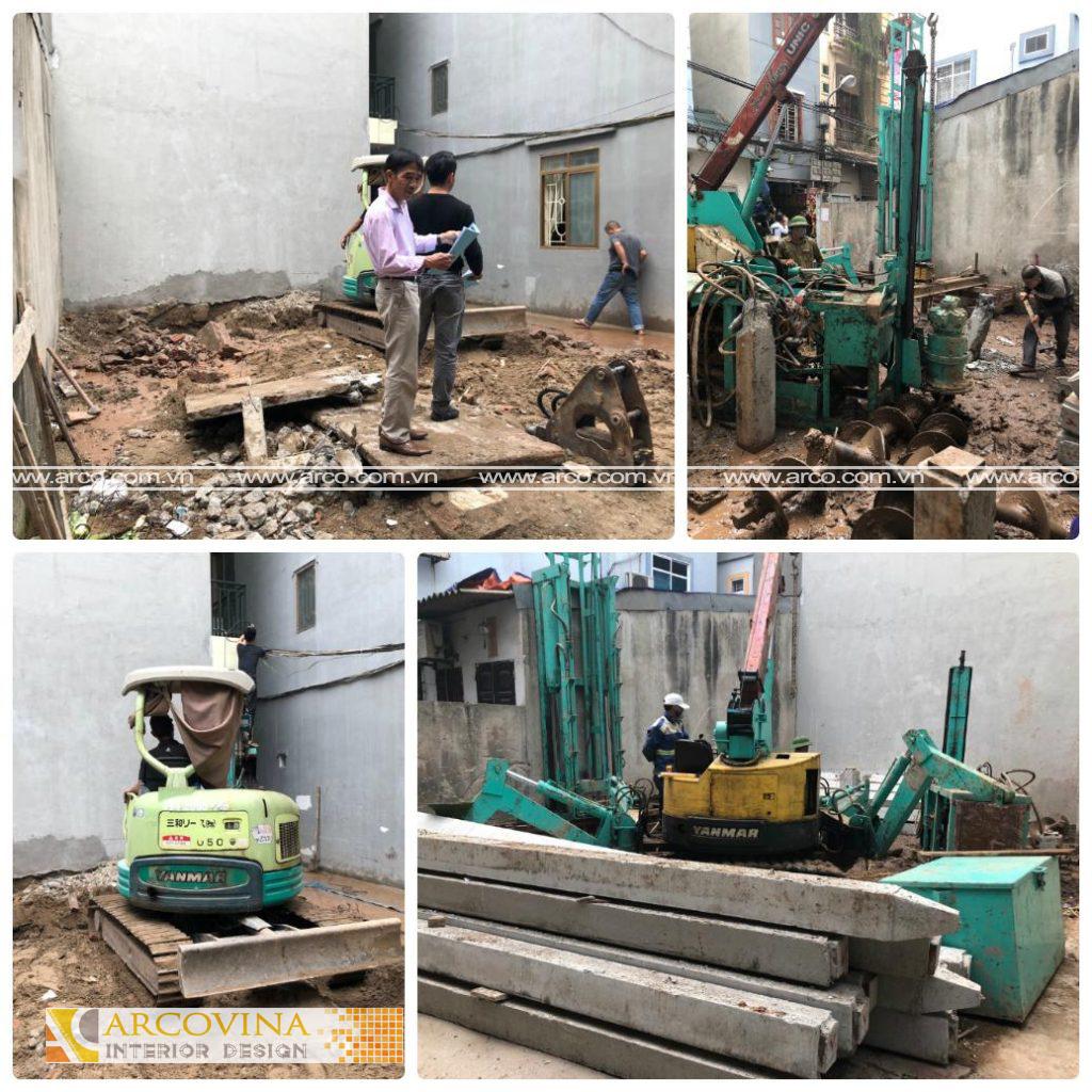 Thi công xây dựng nhà anh Sơn – 168 Kim Giang