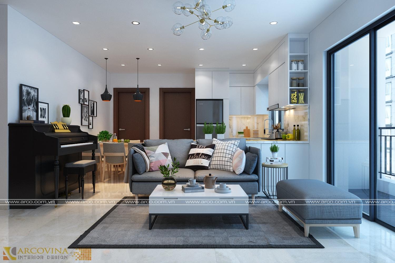 Thiết kế nội thất căn hộ 68m2 – L4 Chung cư The Link- KĐT Ciputra