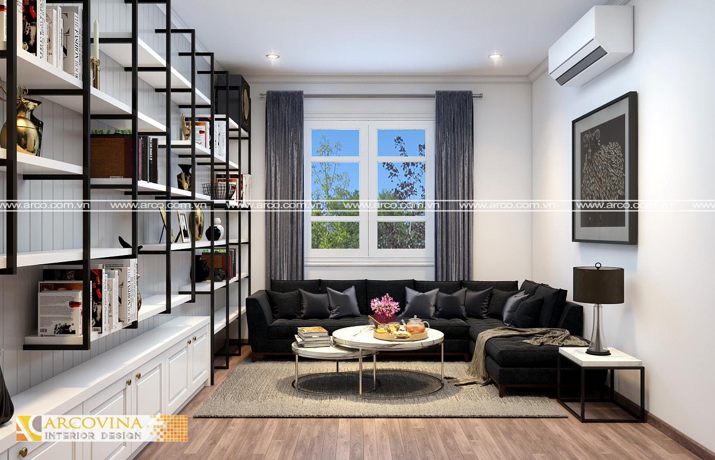 Thiết kế nội thất biệt thự KĐT Ciputra