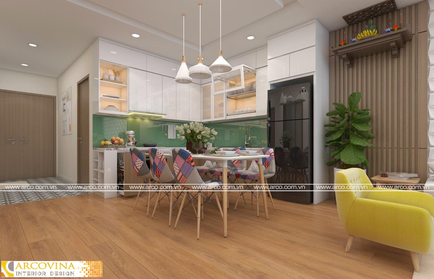 Thiết kế nội thất căn hộ 15xxB chung cư D'Le Roi Soleil