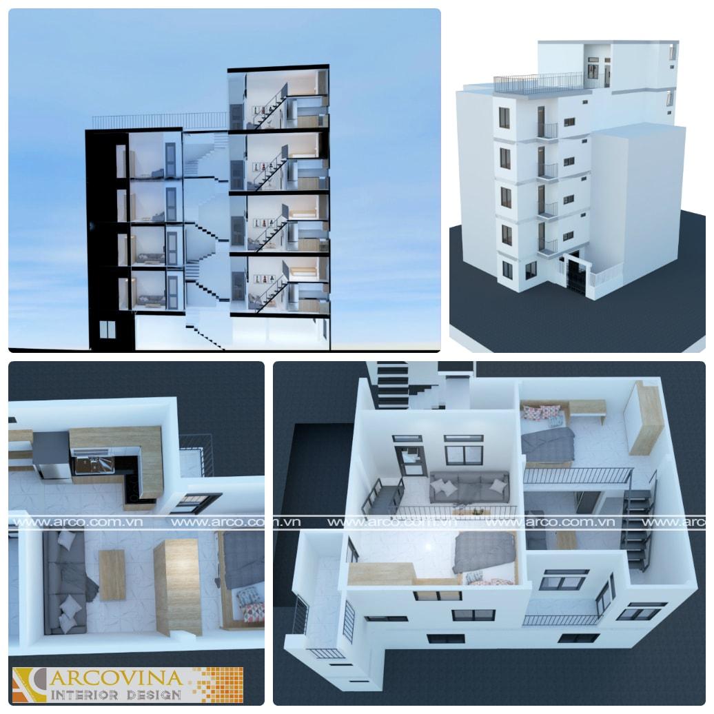 Thiết kế chung cư mini tại Vũ Tông Phan- Hà Nội